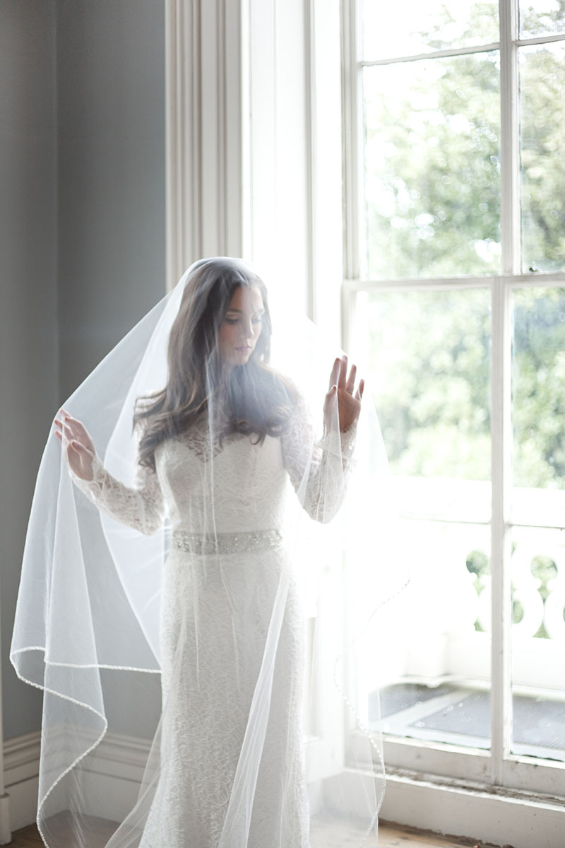 Bride with Delicate Veil at The Hay House