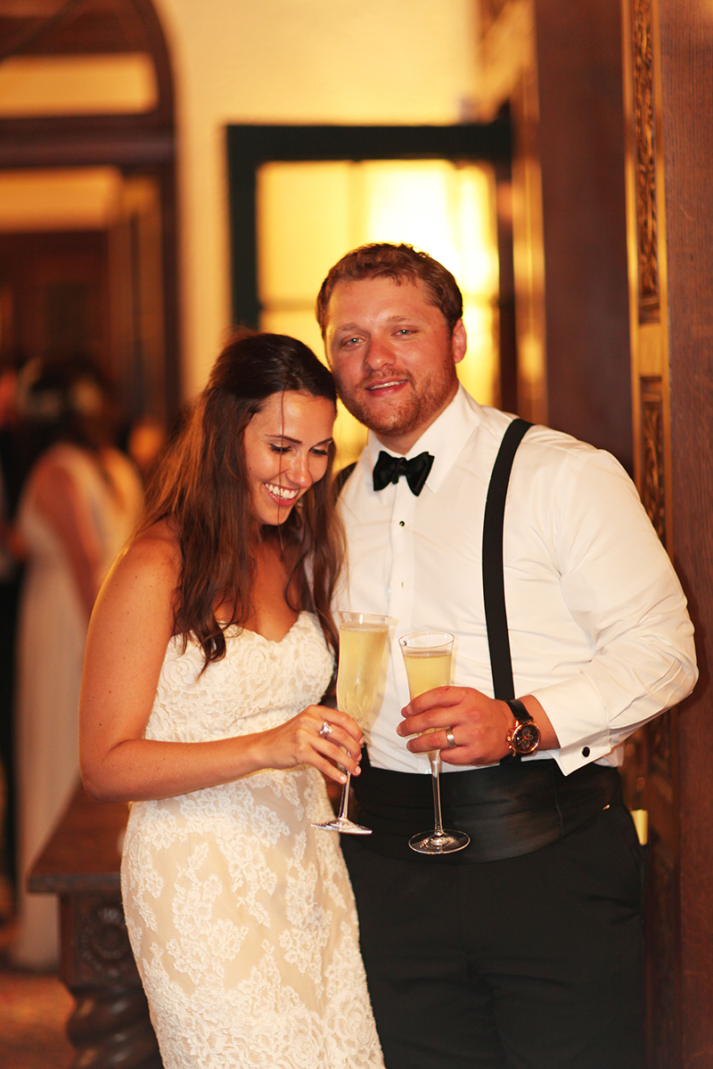 Champagne Toast at Wedding Reception
