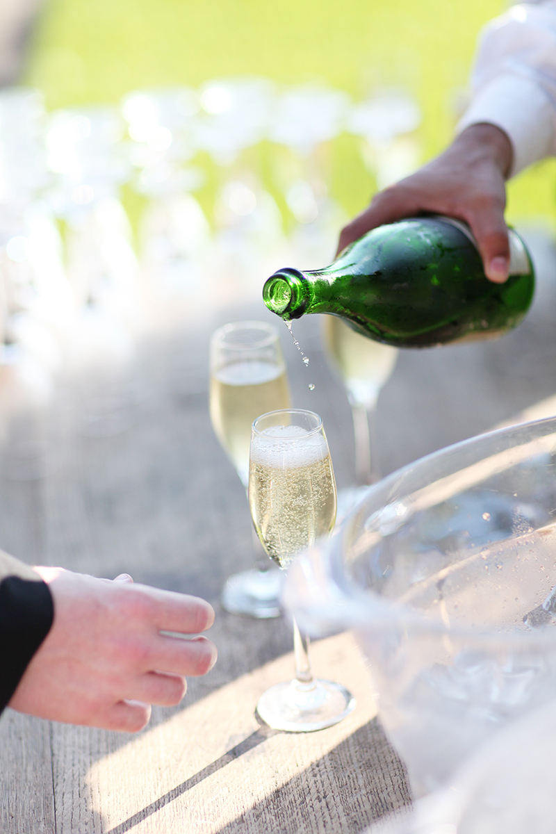 Champagne Welcome at Wedding Ceremony