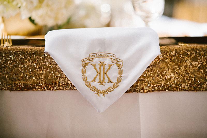 Custom Monogrammed Wedding Napkins