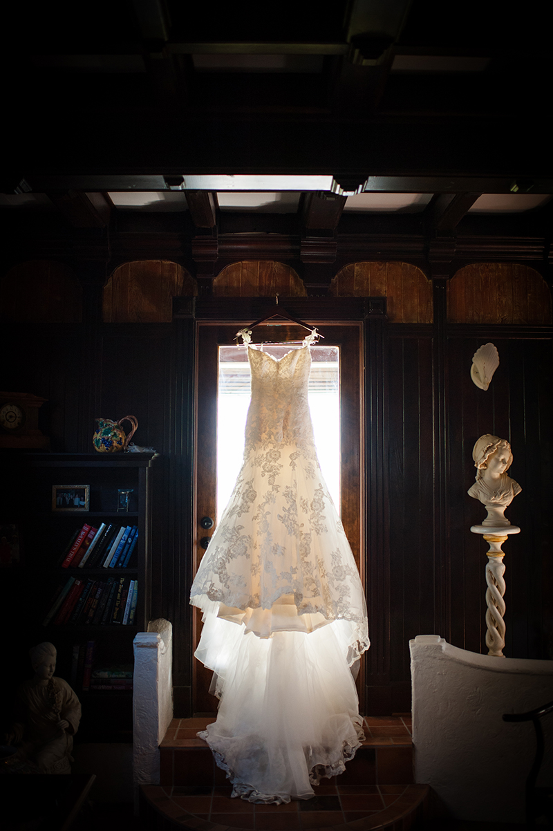 Enzoani Lace Gown Hanging At The Estate On Halifax