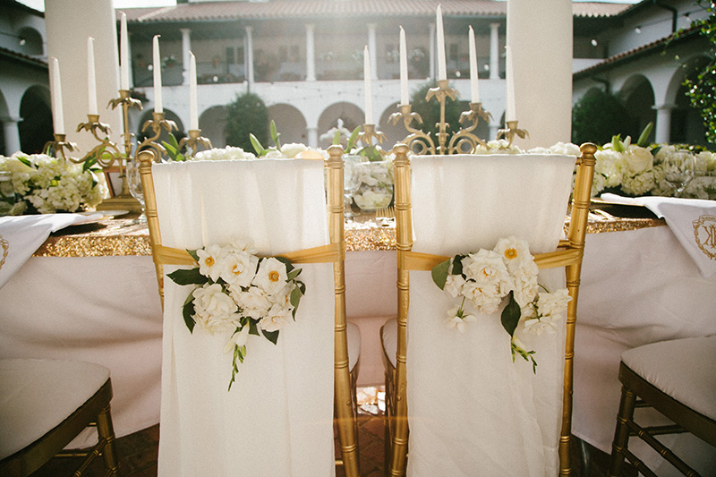 Floral Adorned Sweetheart's Chairs