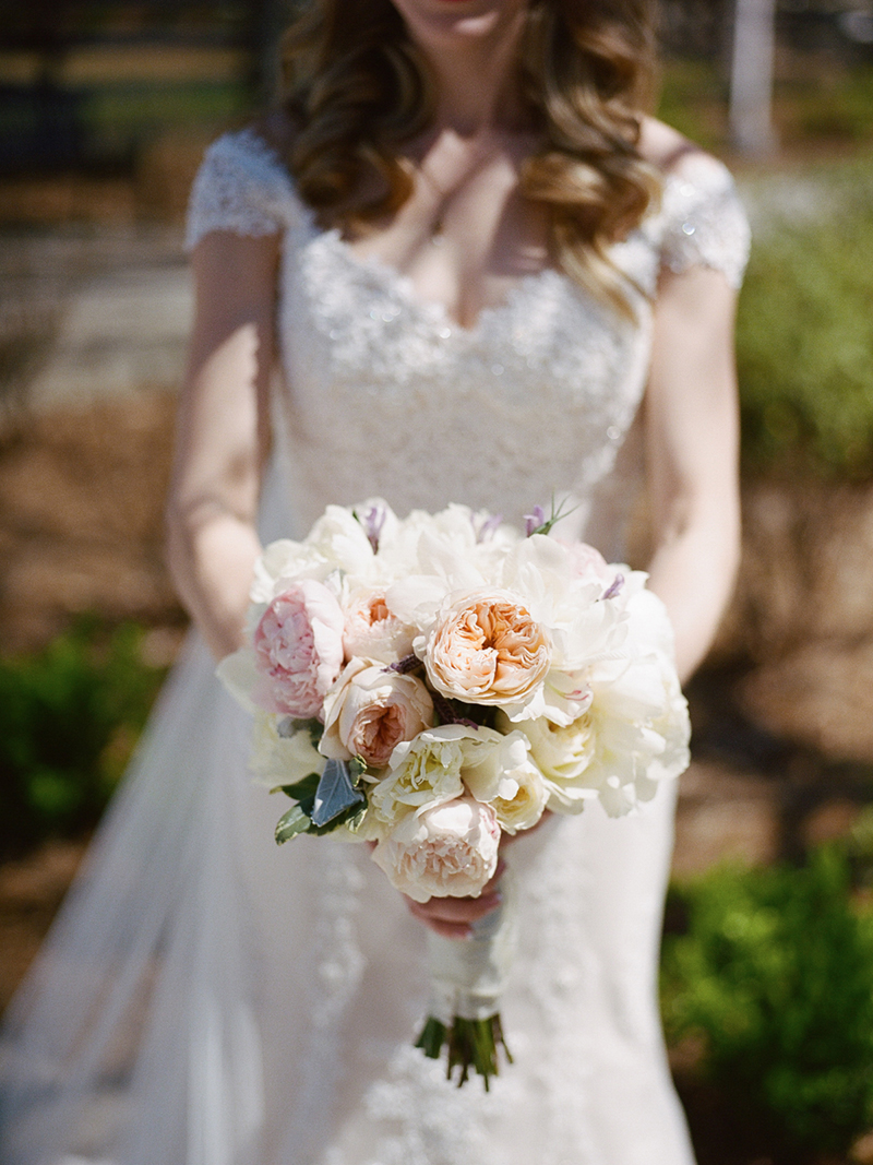 Garden Rose and Peony Bridal Bouquet