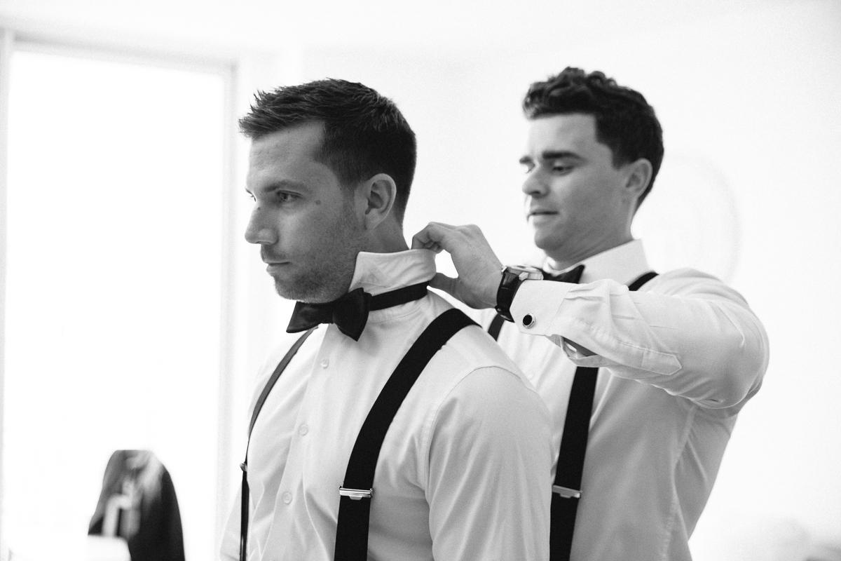 Groom and Groomsman Before Wedding