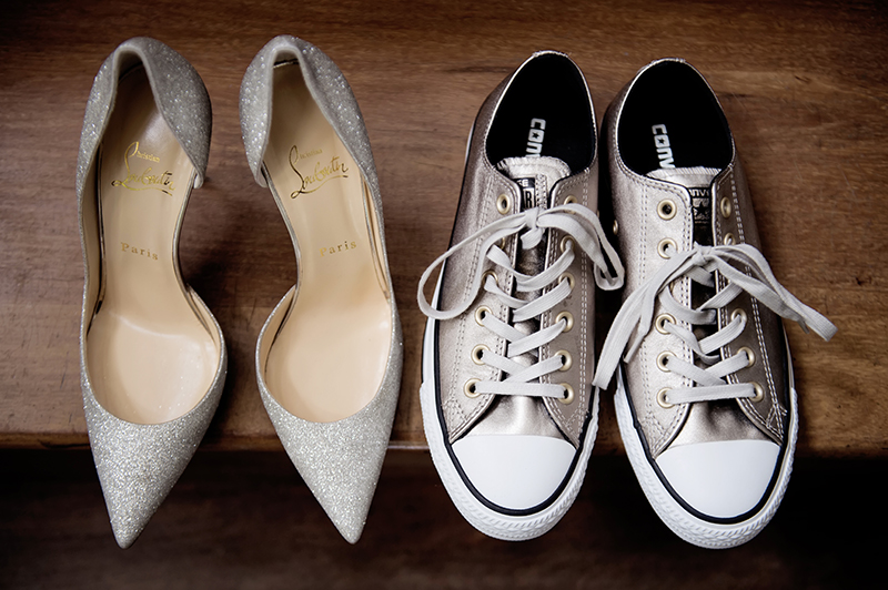 His and Hers Wedding Day Shoes