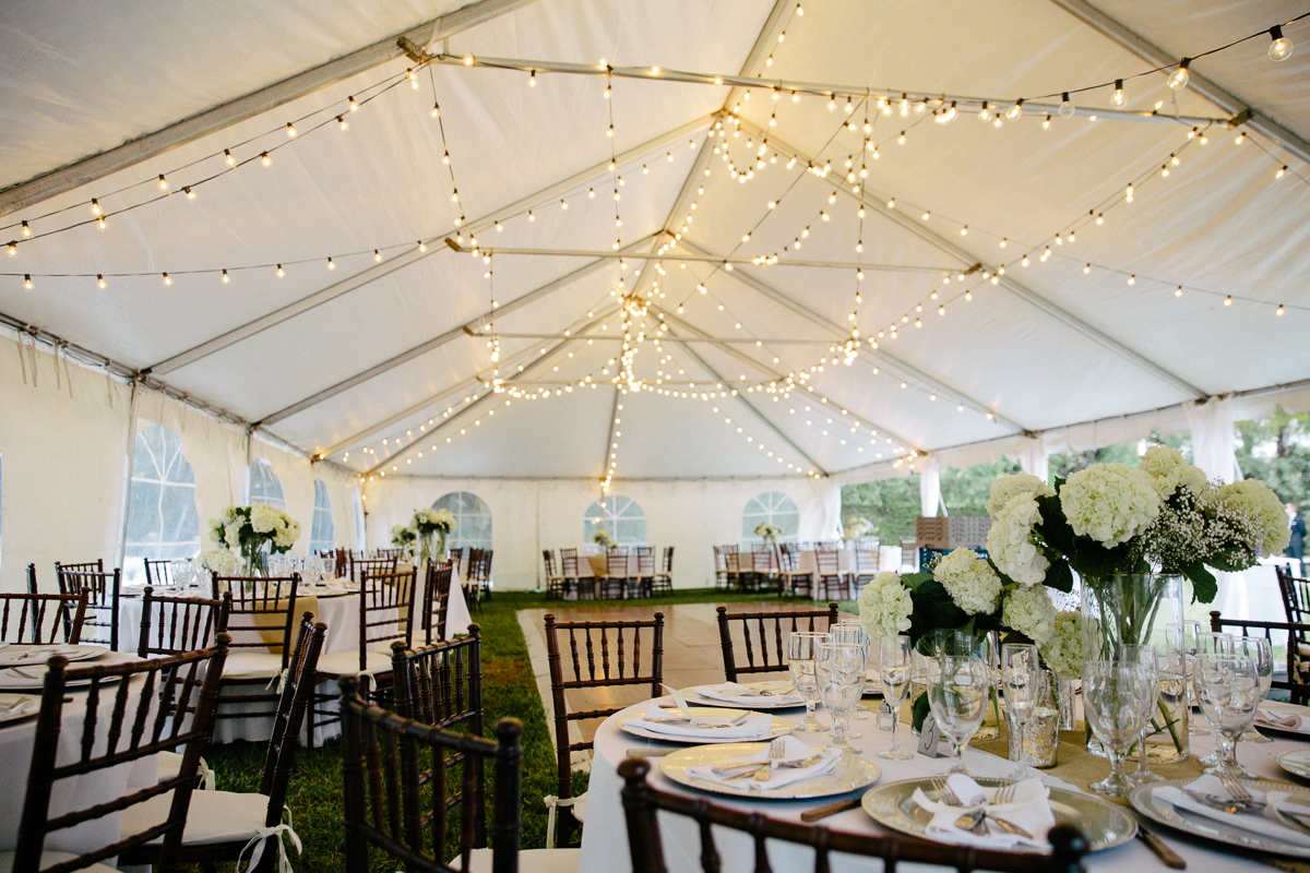 Ivory White Outdoor Tent Wedding Reception Table Display & Intimate Estate Wedding at The Zen House in Miami FL - The ...