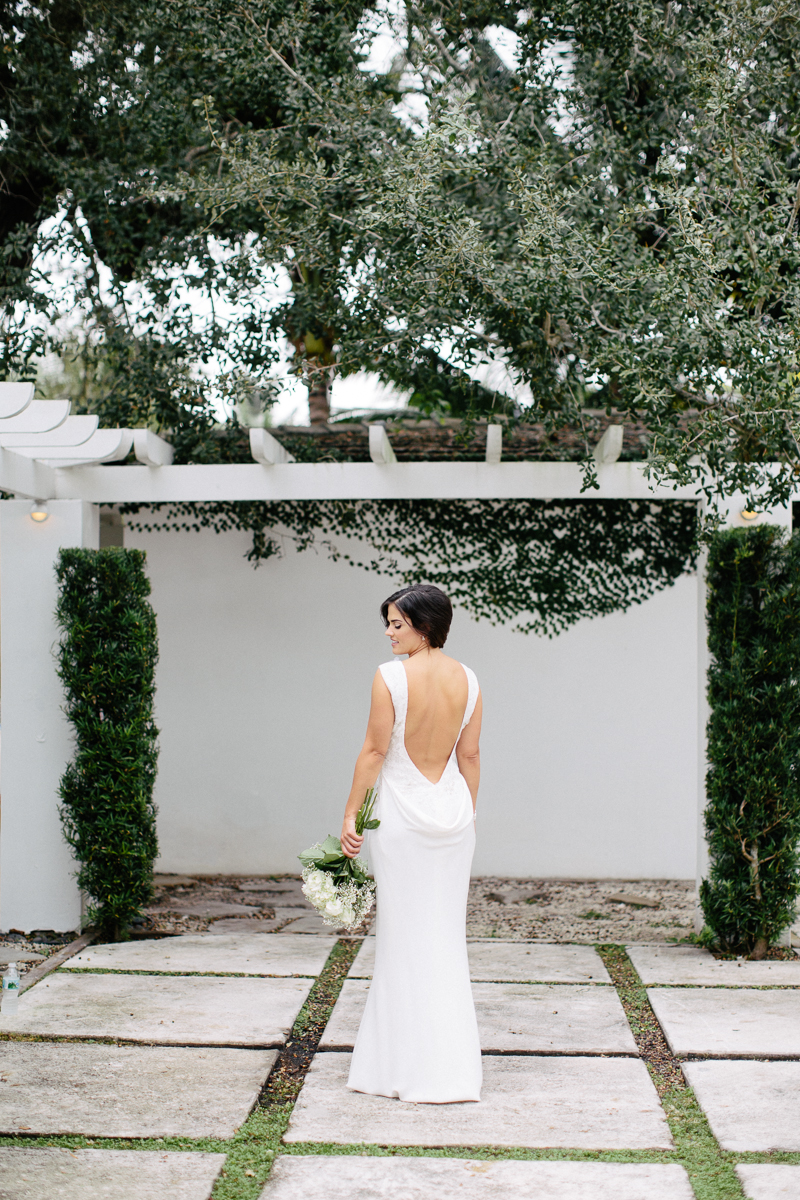 Outdoor Bride Back