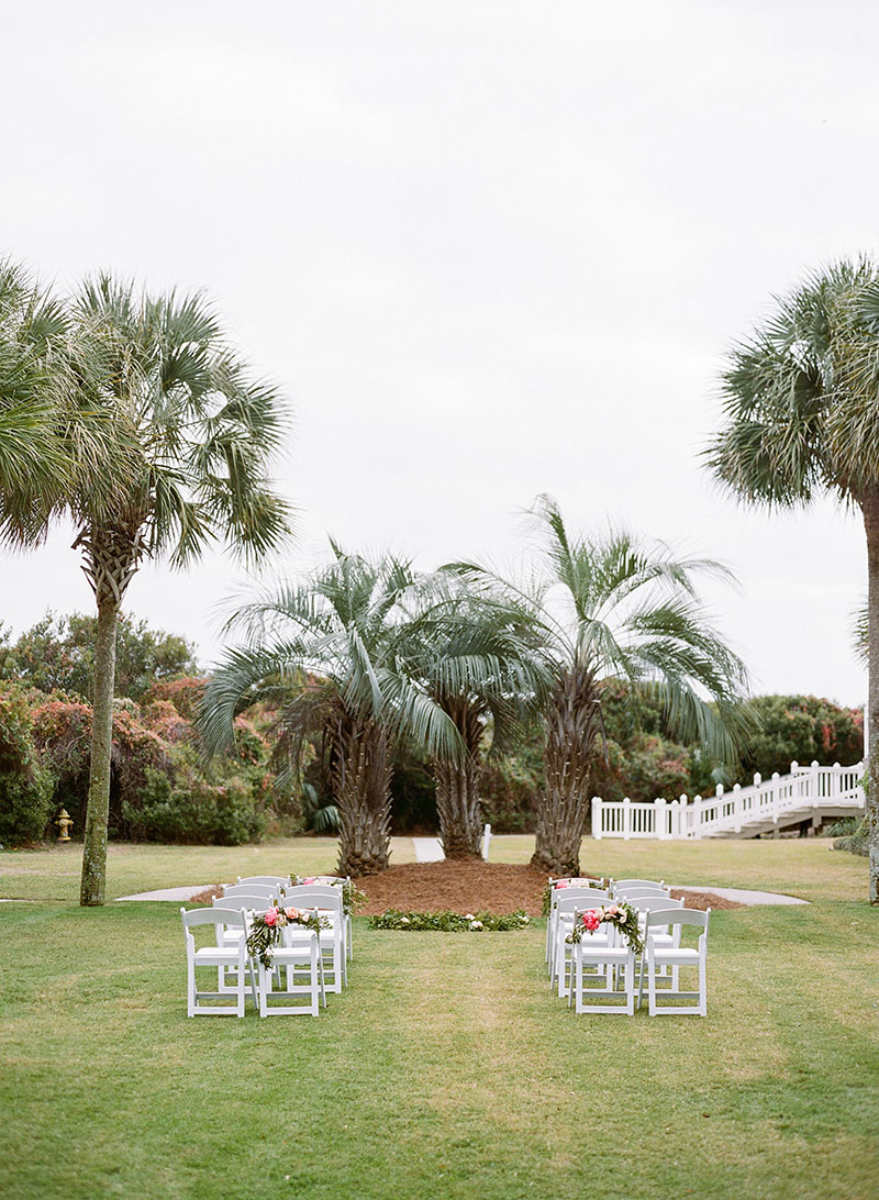 Outdoor Wedding Ceremony at Dunes Resort in Charleston