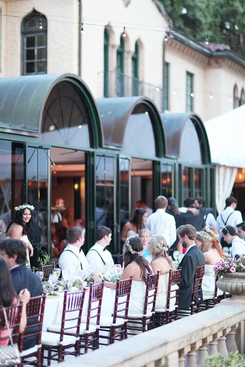 Outdoor Wedding Reception Dinner Tables
