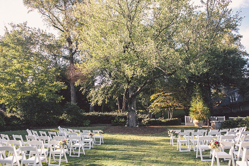 Outdoor Wedding Reception In Piedmont Park