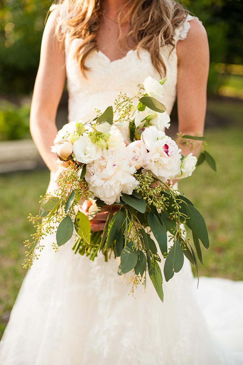 Peony and Eucalyptus Bridal Bouquet