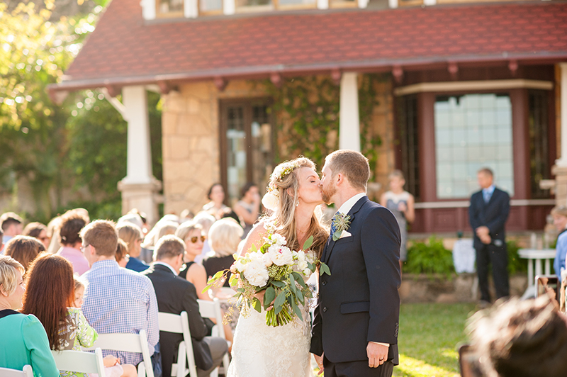 Recessional at Outdoor Wedding Reception at The Estate on the Halifax