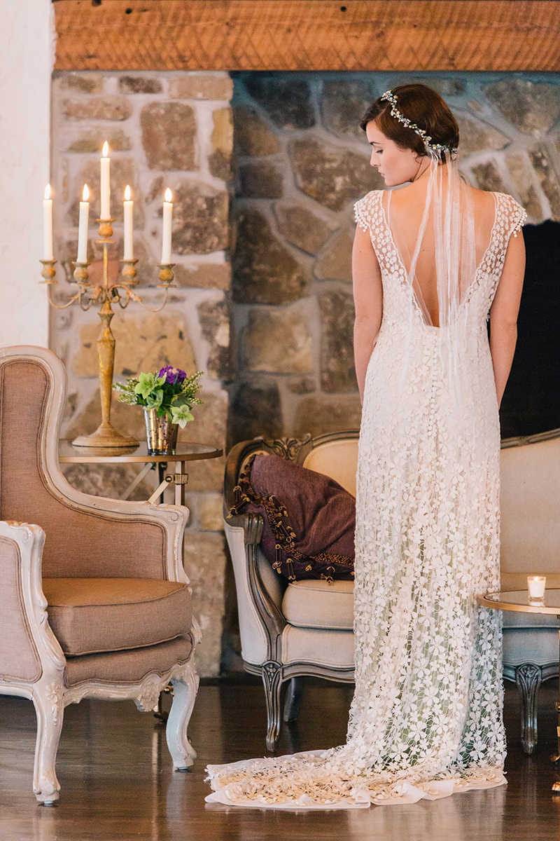 Romantic Fairytale Inspired Back Lace Wedding Dress