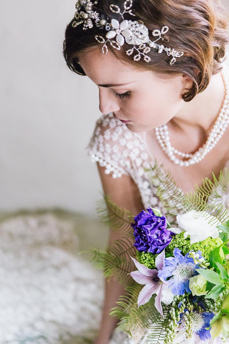 Romantic Purple Green Fairytale Inspired Bride