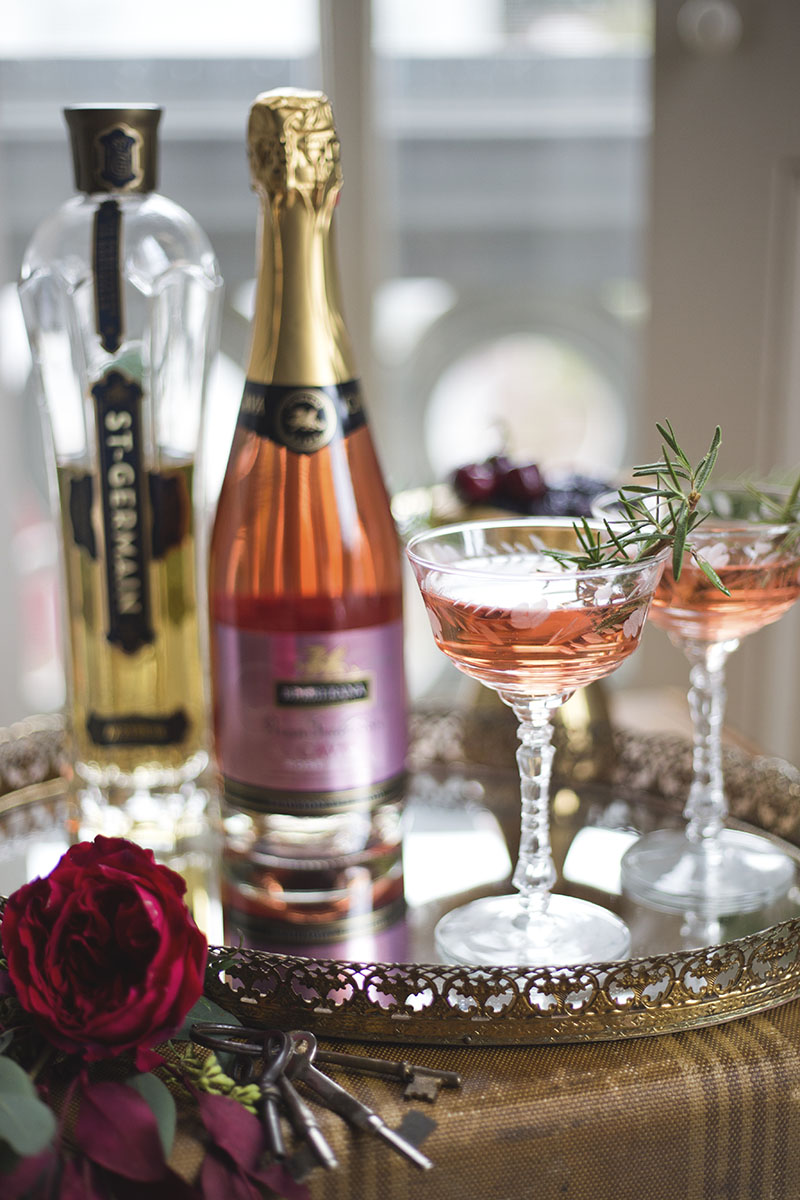 Rose and St. Germain Specialty Cocktail