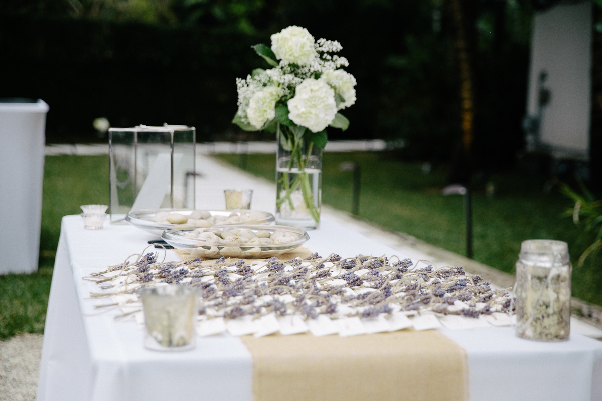 Seating Arrangement Labels Outdoor Display Table