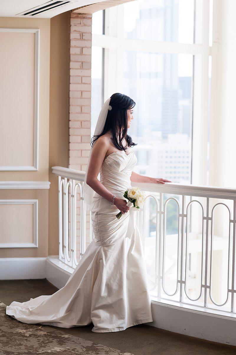 Silk ivory mermaid wedding gown