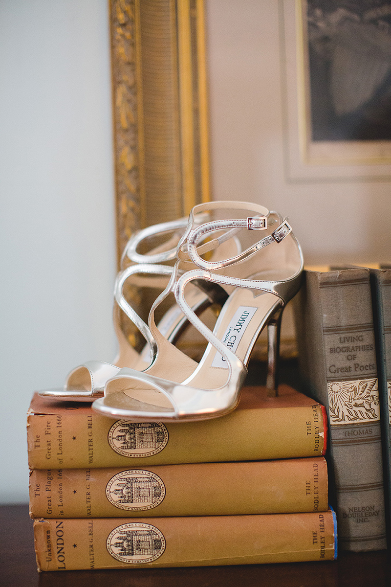 Silver Bridal High Heel Shoes