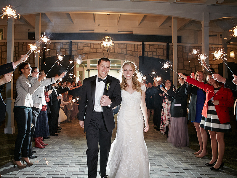 Sparkler Wedding Reception Exit