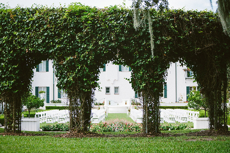 Wedding Ceremony Set Up at The Jekyll Island Club