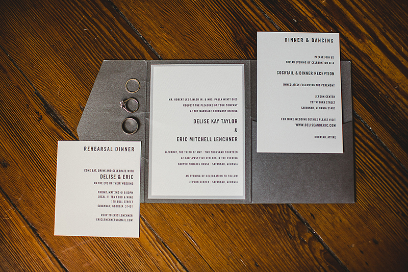 White Silver Invitations