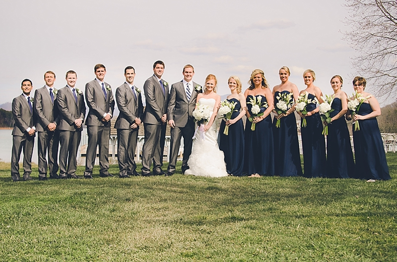 lake-wedding-party-navy-dresses