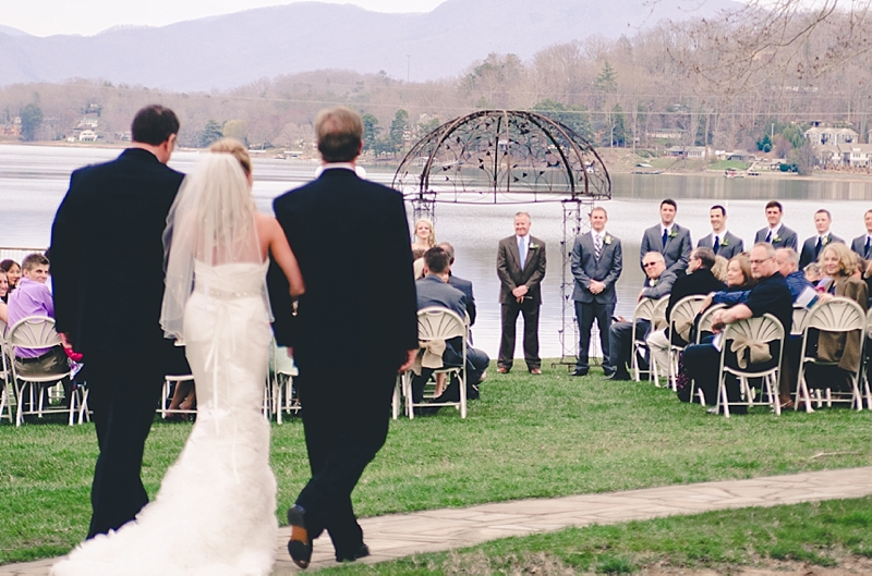 lakefront-wedding-processional