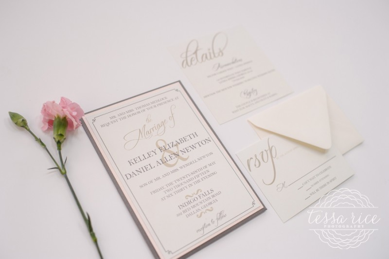 grey and blush wedding invitation - Adults Only Wedding Invitation Wording