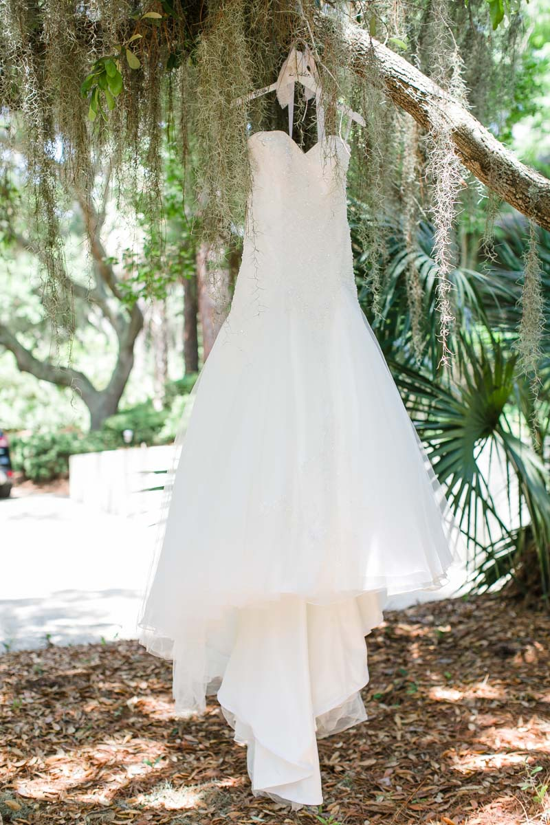 Beaded Wedding Dress In tree