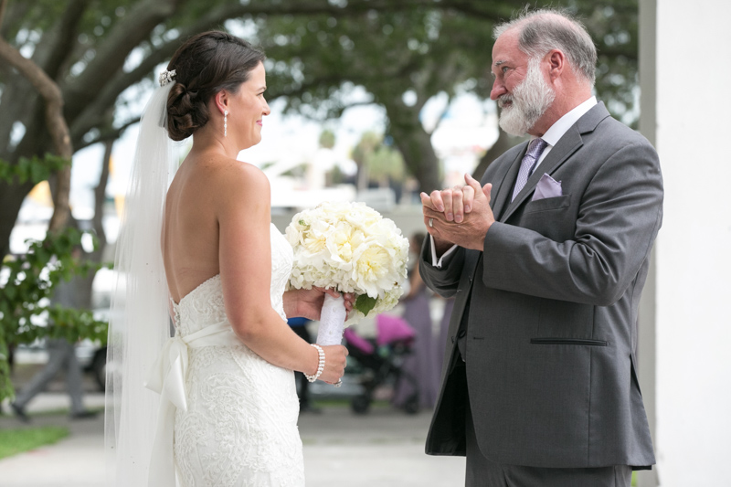 Bride & Father Having Sentimental Moment