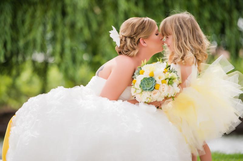 Bride Flower Girl Portrait