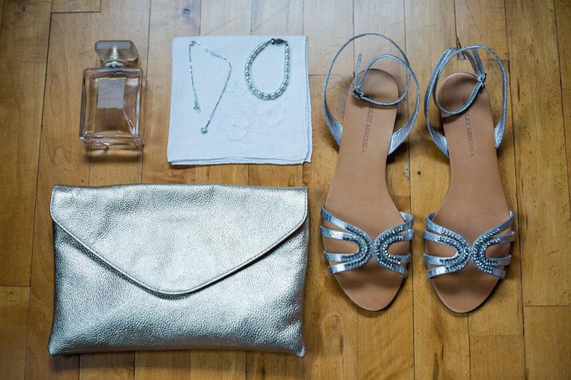 Bride Shoes Silver Clutch