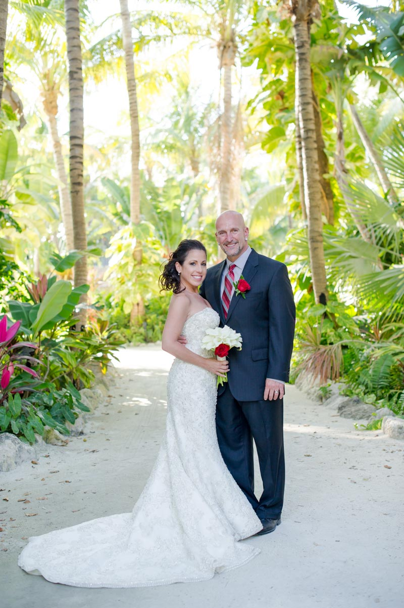 Bride and Groom Islamorada Beach Wedding