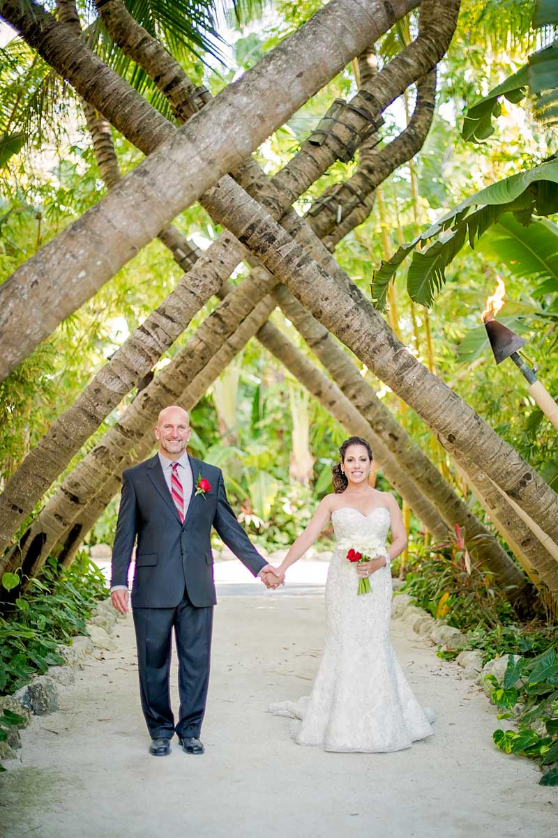 Bride and Groom Tropical Islamorada Wedding