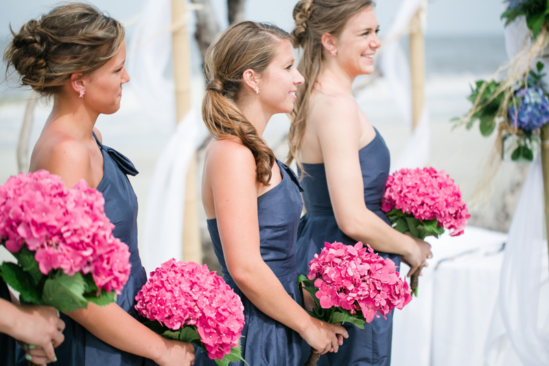 Bridesmaids and Hydangeas