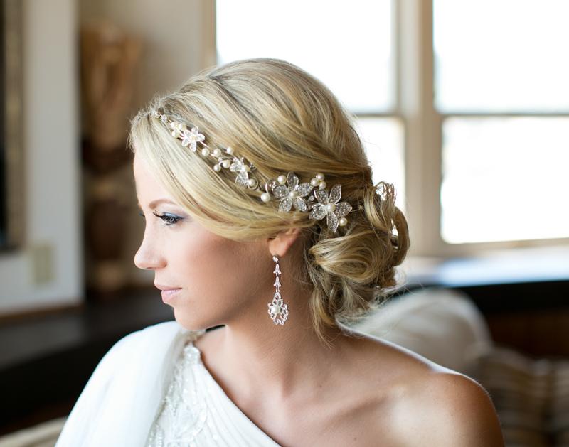 Elegant Polish Wedding Bride Hair and Headband