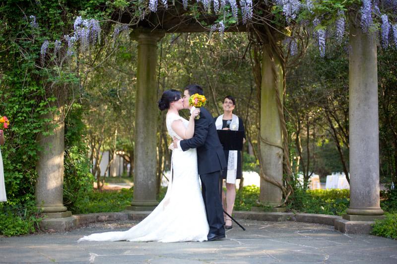 First Kiss Bride Groom