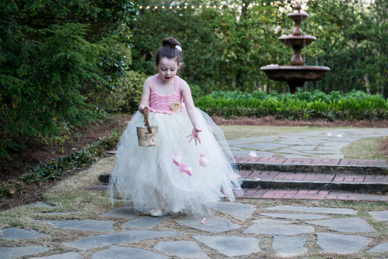 Flower Girl Outdoor Wedding