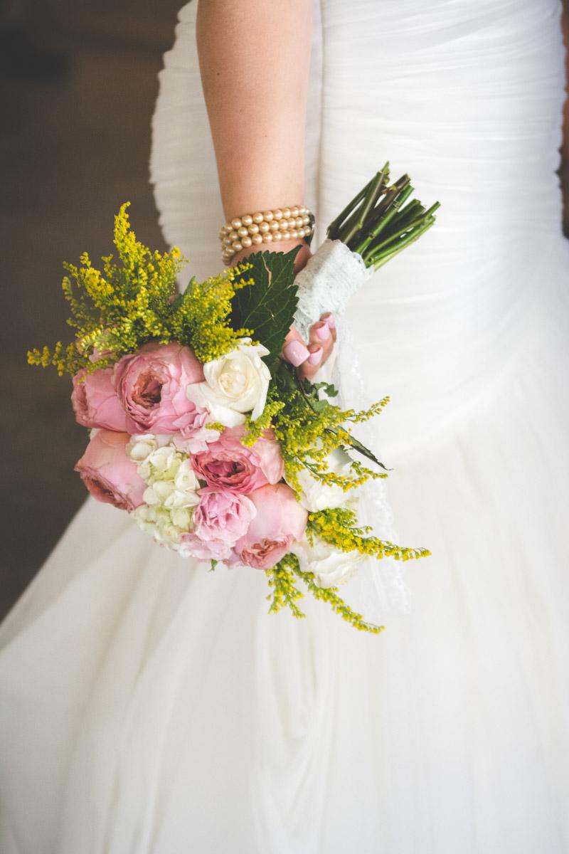 Garden Rose Wedding Bouquet
