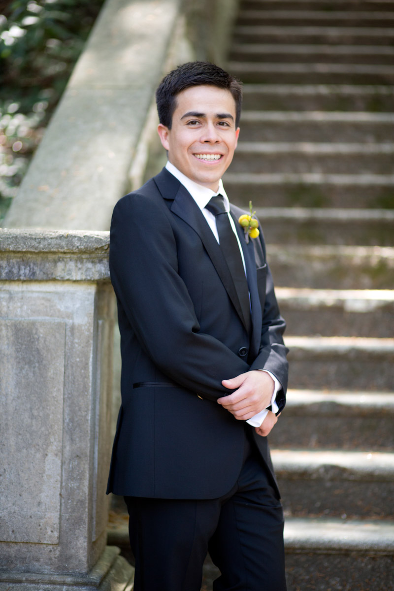 Groom Portrait Outdoor Wedding