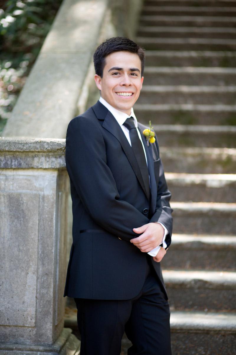 Groom Portrait Outdoor Wedding