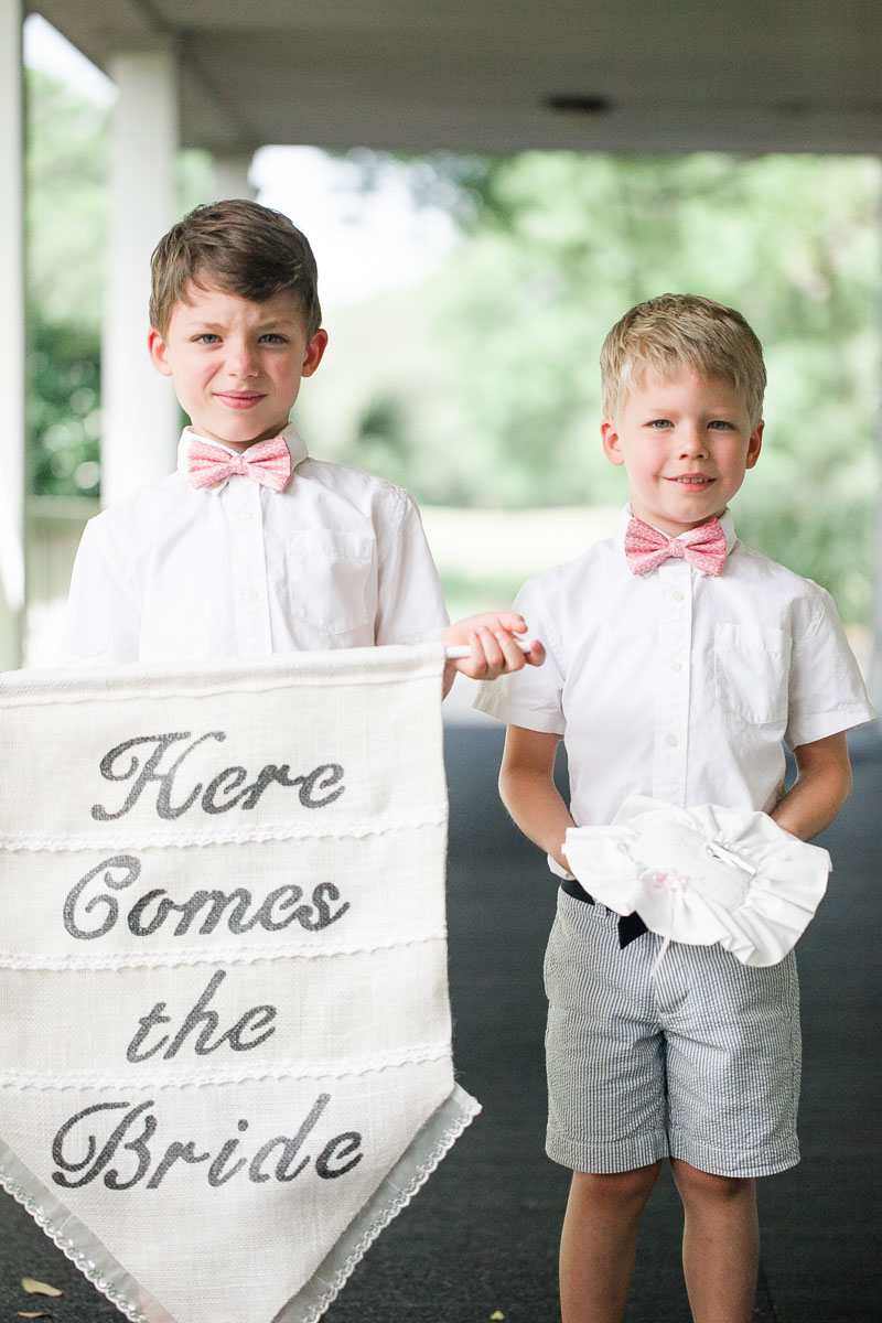Here Comes The Bride Sign & Ring Bearers