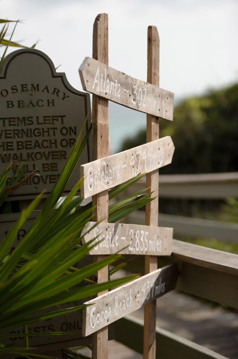 Location beach sign