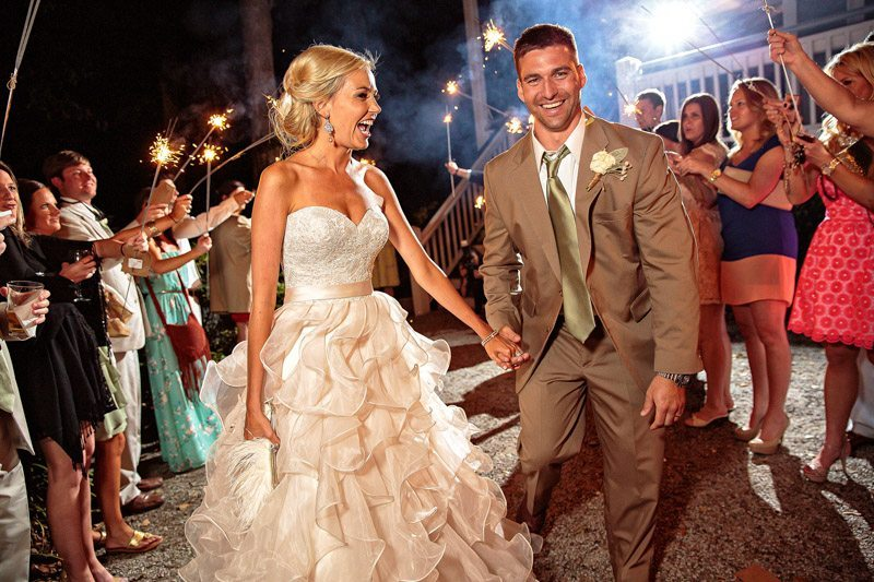 Mount Pleasant Rustic Southern Bride and Groom Exit
