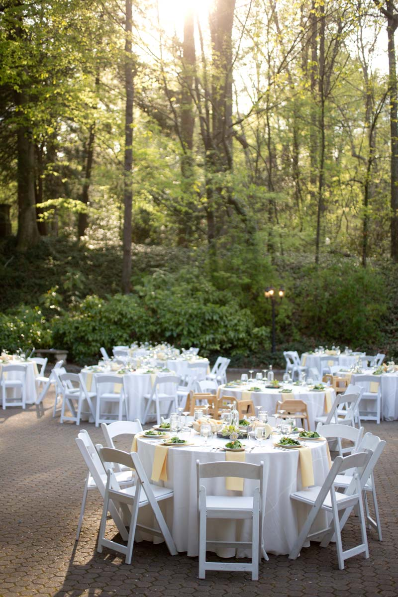Outdoor Reception White Gold Theme