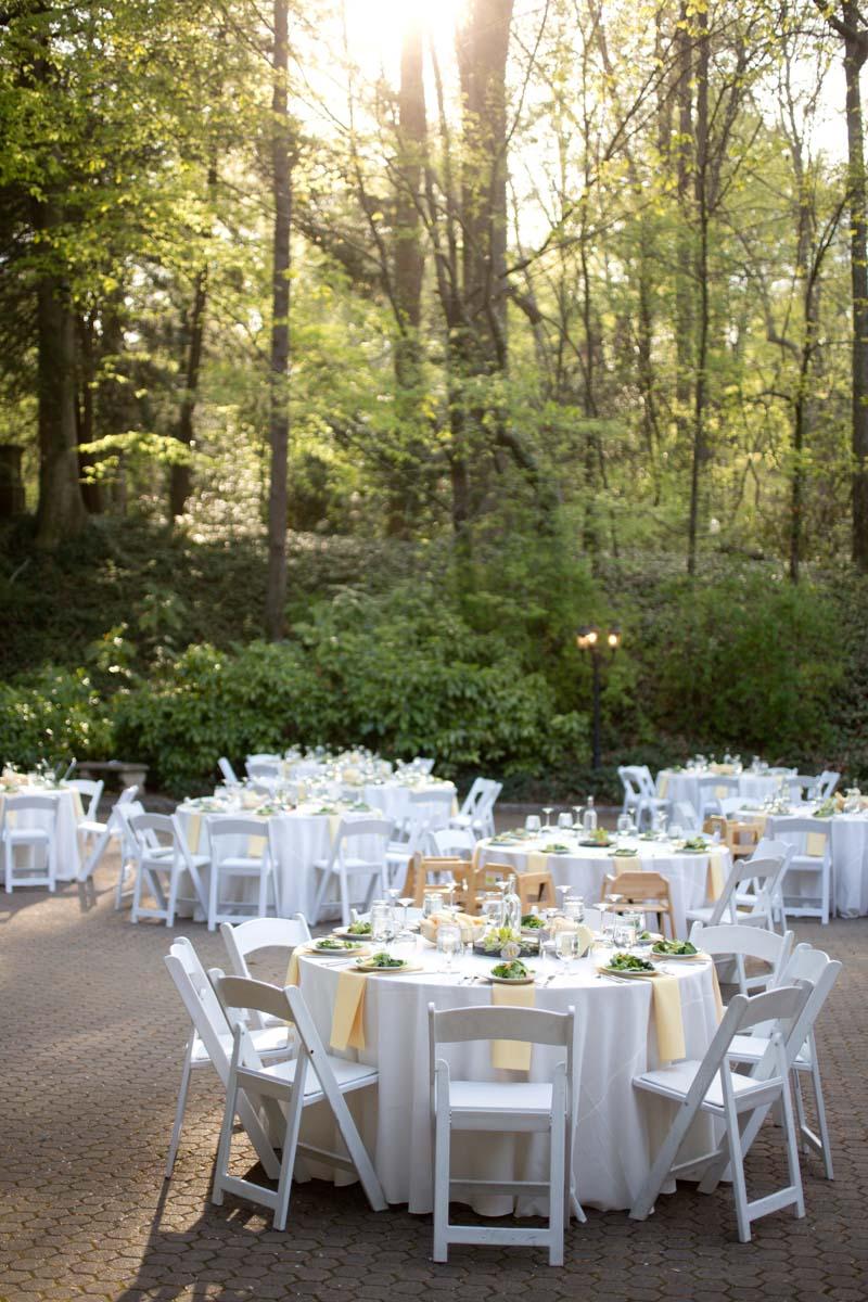 Outdoor Reception White Gold Theme