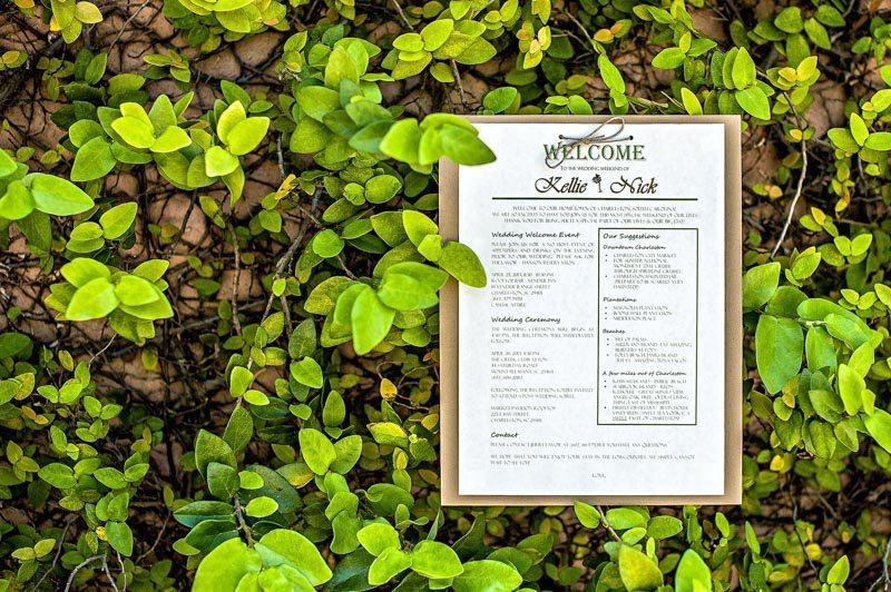 Outdoor Southern Wedding Ceremony Program