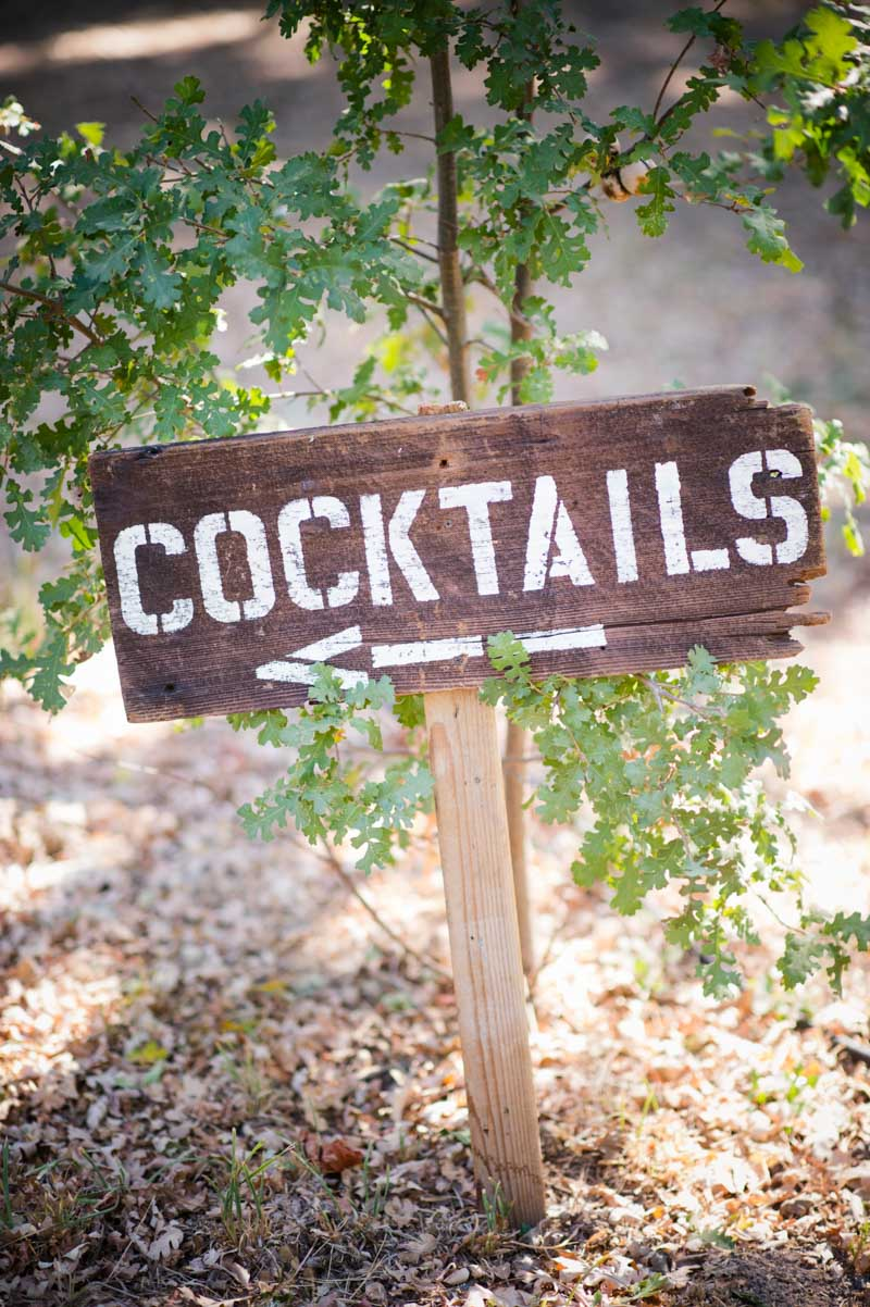 Personalized wooden cocktails sign