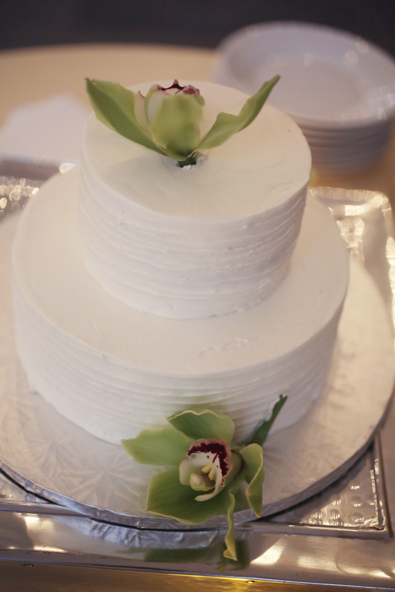 Plain White Wedding Cake