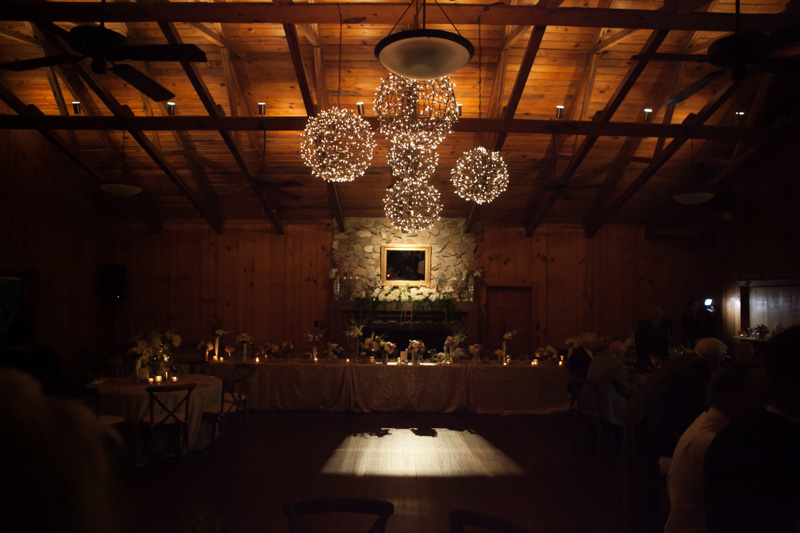 Reception rustic chandelier